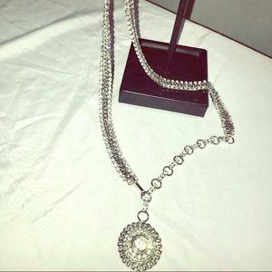 Beautiful diamond studded chain belt small